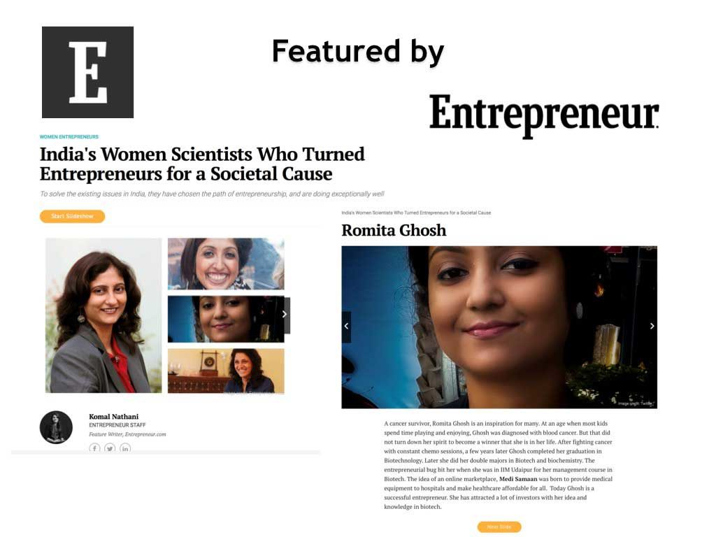 Featured by Entrepreneur Magazine